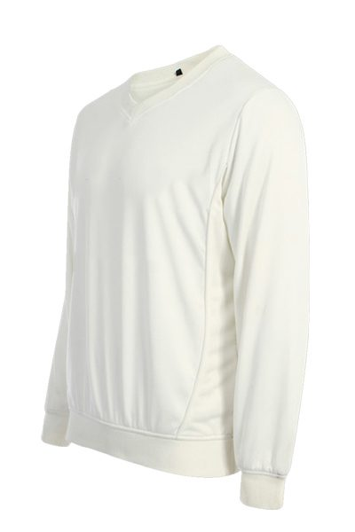 White jumper long sleeve
