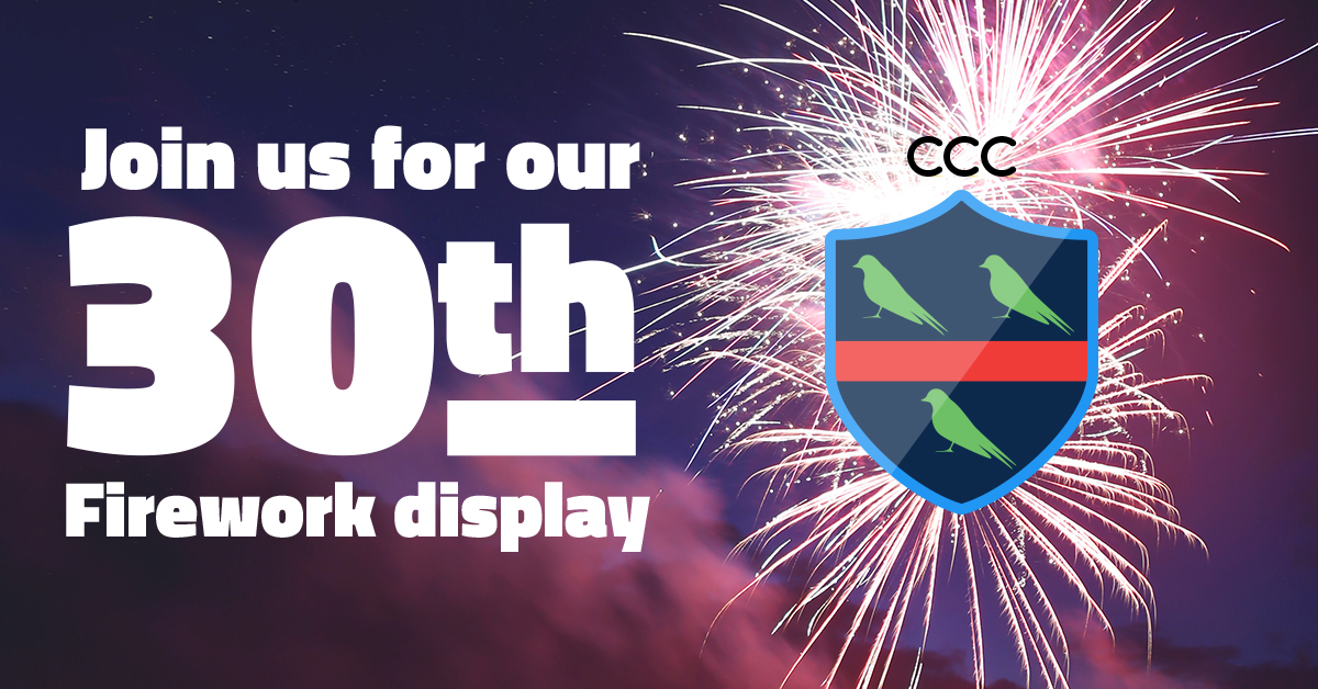 Join us for our 30th Firework display